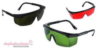 Gafas protección depilación laser ipl